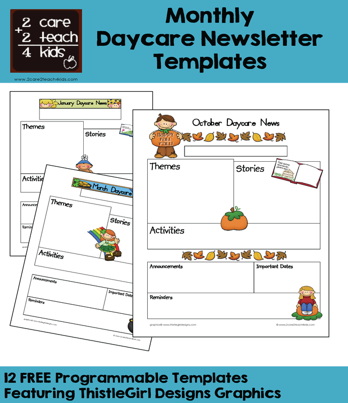 Newsletters   Free Printable Templates  2care2teach4kids.com