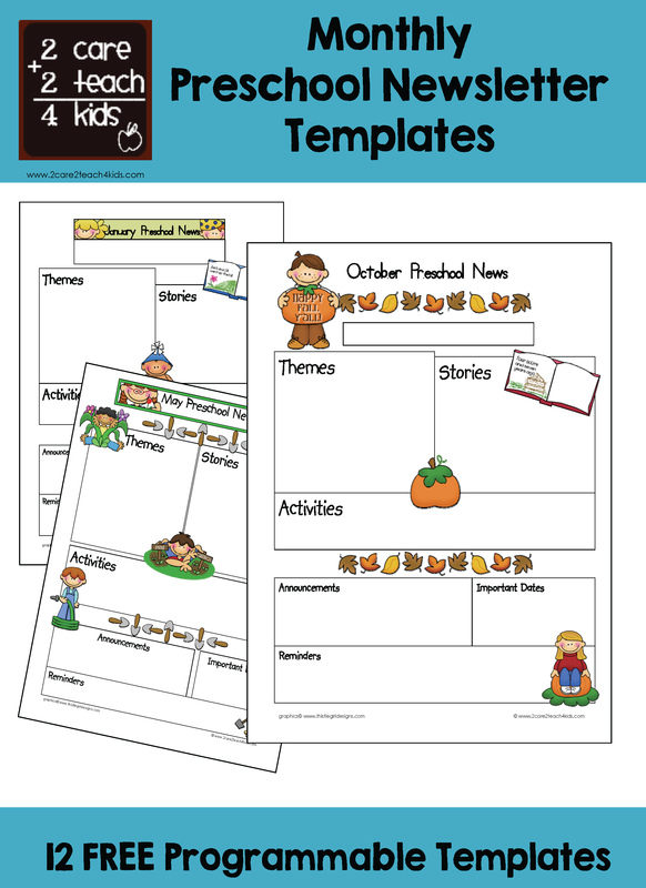 preschool newsletters free printable templates. Black Bedroom Furniture Sets. Home Design Ideas