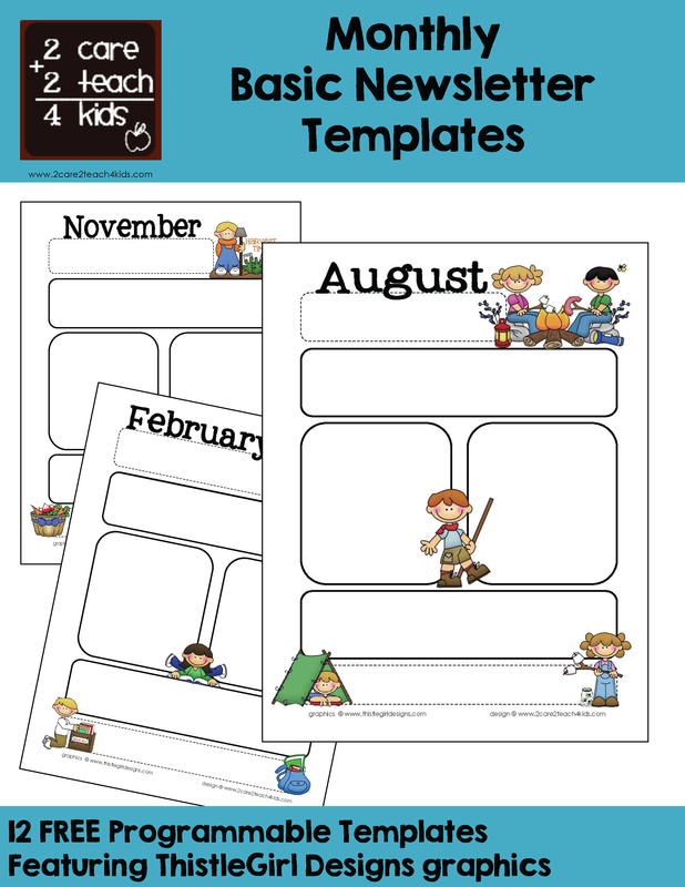 Communication for Childcare newsletter templates