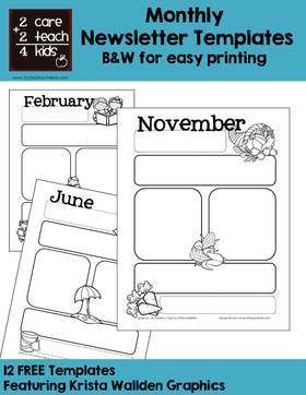 Newsletters Free Printable Templates 2care2teach4kids Com
